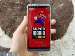 Super Mario Run in standard view