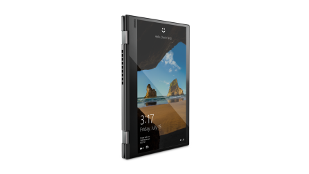 04_YOGA_720_12inch_Hero_Tablet_mode_front_facing_right_Iron_Grey