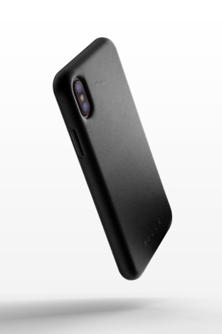 Full leather case for iPhone X - Black - 01