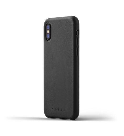 Full leather case for iPhone X - Black - Thumbnail - 01