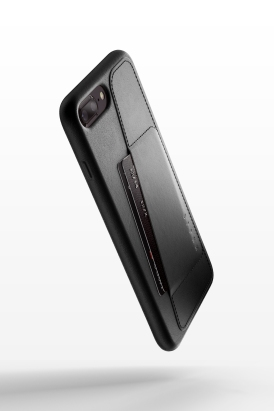 Full leather wallet case for iPhone 8 Plus - Black - 01