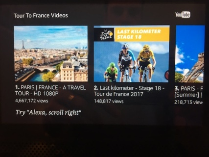 YouTube on the Echo Show back in July