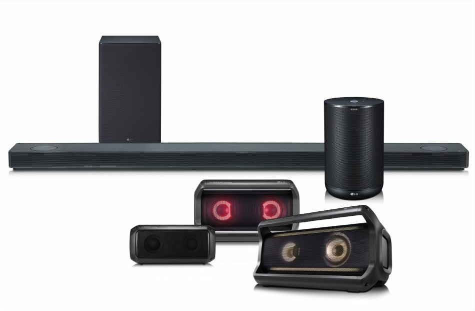 LG Electronics USA audio lineup